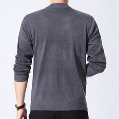 Mens Fall Winter Lattice Pullover Warm Knitted O-neck Casual Sweaters