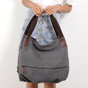 KVKY Canvas Tote Handbags Simple Shoulder Bags Summer Shopping Bags