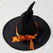 Costume d'Halloween de la fille 3Pcs Witched Witch Dress, chapeau et ceinture pour 4Y-15Y