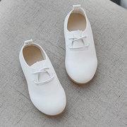 Mädchen reine Farbe schnüren sich oben beiläufige bequeme flache Schuhe für Kinder