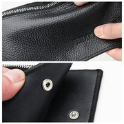 Genuine Leather Multi-Slots Business Casual 6 Inch Phone Bag Long Wallet For Men