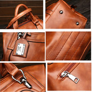 Women Retro Oil Wax Faux Leather Tote Bag Crossbody Bag
