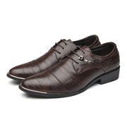 Hommes Cap Toe bout pointu Lace Up robe chaussures d'affaires