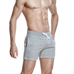 Mens Home Shorts Breathable Elastic Waist Drawstring Jogging Cotton Sports Shorts