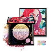 HUAMIANLI Sombra de olhos de arco-íris Highlighter Powder Maquiagem Glitter Bronzer Blusher Palette Contour Naked