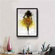 Fashion Girl Minimalist Abstract Art Canvas Poster Painting Modern Decor