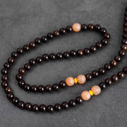 Ethnic Wood Beaded Necklaces O Shape Ebony Vintage Charm Necklaces for Women International Jewelry