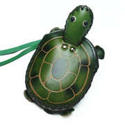 Women Genuine Leather Little Turtle Coin Purse Cute Cartoon Shape Key Bag