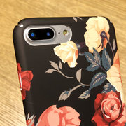 Mujer Vogue Retro Simple Flower TPU Phone Caso Contraportada para iPhone