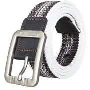 Belts For Men Fashion Casual Pin Buckle Canvas Belt Men Real Leather Fashion Mens Canvas Belts