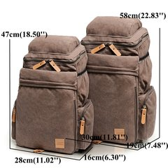 Men Canvas Casual Shoulder Bag Outdoor Travel Sports Backpack