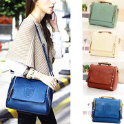 Women PU Leather Vintage Crossbody Bags Crown Retro Shoulder Bags