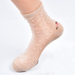 Women's Fashion Lace Silk Sock Summer Thin Breathable Long Ankle Socks