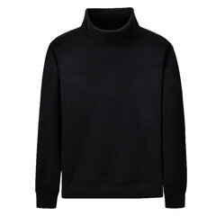 Fleece Turtleneck Collar Fashion Solid Color manga larga camiseta suelta para hombres