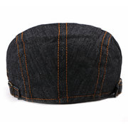 Men's Cotton Washed Thin Beret Cap Outdoor Leisure Warm Cowboy Fashion Sun Hat