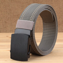 Mens Long Weave Canvas Web Elastizität Gürtel Outdoor Slider Buckle Durable verstellbarer Riemen