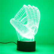 Guanti da baseball 3D Night Light 7 Cambia colore LED Lampada da tavolo Scrivania Tocco regalo di Natale Home Decor