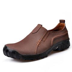 Мужская походная кожаная нескользящая обувь На открытом воздухе Sport Flat