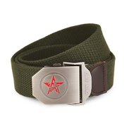 Fashion Male Canvas Belt Pentastar Thickening Alloy Buckle Pants Strip