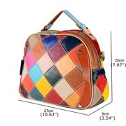 Genuine Leather Patchwork Shoulder Bags Crossbody Bags For Women