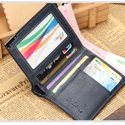 8 Card Slots Detachable Card Holder Horizontal Vertical PU Leather Wallet For Men