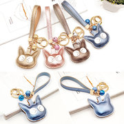 Cute Cat Key Chain Keyring Purse Bag Sequined Accessory