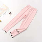 Children's Pants Children's Pants Trousers Season Thin Section Cotton Girls Leggings Printing Nine Pants