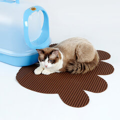 Doglemi Paw Shape Pet Cat Non slip Litter Mat Котенок для унитаза