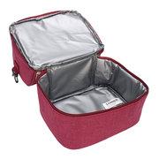 Isolado Double Decker Cooler Lunch Bag Com Alça De Ombro Removível Saco De Piquenique Tote Bolsa