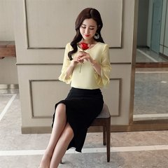 Net Red Skirt Set Two-piece Social Female Clothes Domineering High Cold Yu Sister Style Mature Noble Elegant Temperament Female