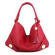 Women PU Leather Hobo Bags Casual Tote Bag Shoulder Bag