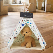 Animali Teepee Tent Dogs Home Canvas Pretend Gioca a Playhouse Tipi Outdoor Indoor