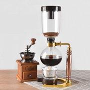 Siphon Kaffeemaschine Topf Edelstahl Durable hitzebeständiges Glas Kaffeemaschine Filter für Zuhause