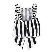 Big Bow-knot Girls Striped Print Clothing Set For 1Y-7Y