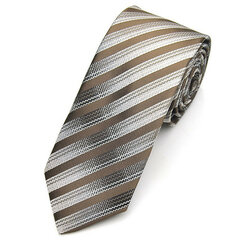 Mens Ties Twill Polyester Stripe Skinny Jacquard Woven Neckties
