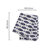 Nordic Simple Napkin Western Cotton Printing Small Fish Large Napkin Square Scarf