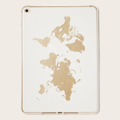 Transparent Soft TPU Cute Ipad Case Map terrain pattern
