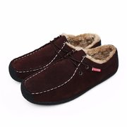 Suede Fur Lining Lace Up Oxford Casual Shoes For Men