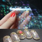 6 стилей Прозрачная голографическая пленка для ногтей для ногтей Наклейки для лазерных наклеек Starry Sky Glitter