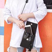 Candy Color Tassel PU Leather Phone Bag Shoulder Bag Crossbody Bag