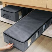 Large Capacity Under Bed Storage Bag with 5 Clear Window for Clothing Shoes Blankets Clothes