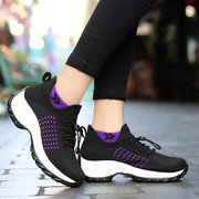Women Casual Sports Running Breathable Air Mesh Lace Up Shoes