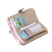 Genuine Leather Stylish Multi-slots Wallet Card Holder Purse For Women