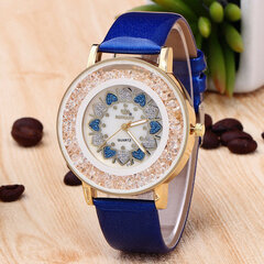 Classic Heart Rock Beads Wristband PU Leather Watch Quartz Women's Watches Wholesale