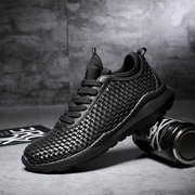 Men Woven Breathable Atheletic Shoes Light Sport Running Sneakers