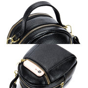 Genuine Leather Pure Color 5.5inch Phone Bag Shoulder Bag Crossbody Bags For Women