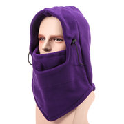 Men Women Outdoor Thicken Fleeces Cap Windproof Ski Mask Warm Head Scarves Cycling Headgear Hat