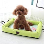 Cama de verano de seda transpirable de seda para mascotas, cama para perros, cama para sofá, cama de verano, sofá