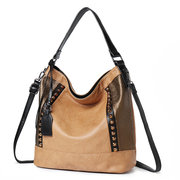 Women PU Leather Tote Handbag Large Capacity Crossbody Bag