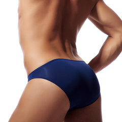 Mens Ice Silk Sexy Seamless Bikinis U Convex Pouch Pad Low Waist Brief